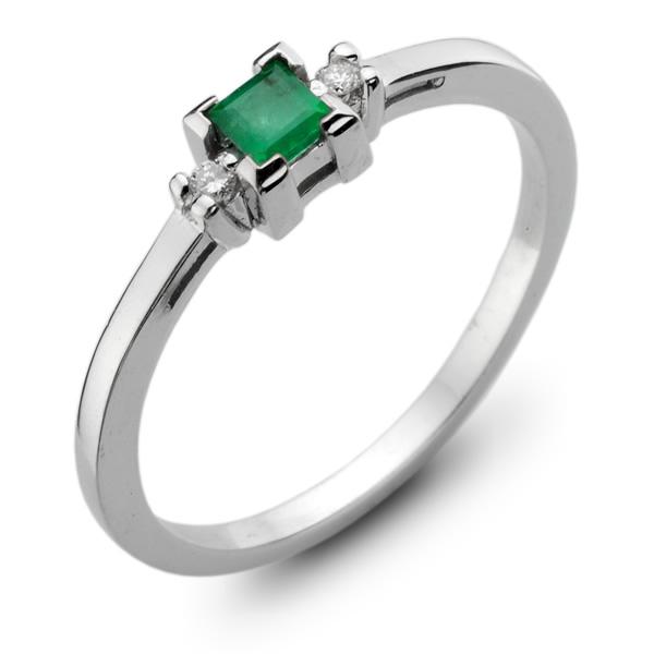 0e645afb3e5968 Szmaragd dla ukochanej - złoty pierścionek ze szmaragdem i brylantami.