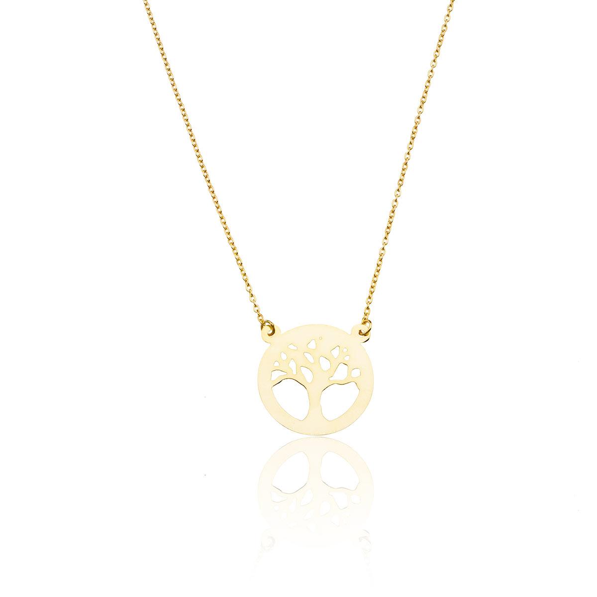 0f20699feab3be Modna biżuteria - Celebrytka , naszyjnik - drzewko szczęścia